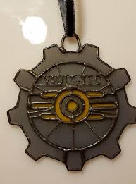 fallout inspired stained glass ornament darkevitrum
