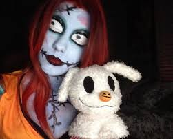 sally the nightmare before make up costume
