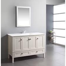 craftsman bathroom vanity white wooden vanity with white top and sink on ceramics flooring
