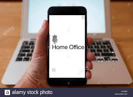 Home Office Uk by Using Iphone Smart Phone To Display Logo Of The Home Office Uk