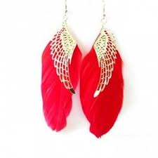feather earrings online earrings wings and feather earrings online shopping
