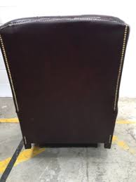 High Back Leather Recliner Chair Oxblood Leather Monk High Back Saxon Chesterfield Recliner Chair 1
