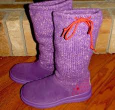 womens ugg knit boots s i ugg knit sock purple winter boots