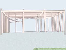 How To Build A Pole Shed Roof by How To Build A Modified Post And Beam Frame With Pictures