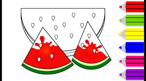 colouring videos coloring watermelon colouring videos coloring