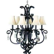 Colonial Chandelier Maxim Lighting Brown Chandeliers Hanging Lights The Home Depot