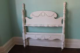 Shabby Chic Secretary Desk by Custom Order Twin Bed Frame Shabby Chic Distressed White