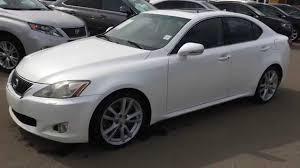 lexus is 250 09 pre owned white on black 2009 lexus is 350 rwd sport package