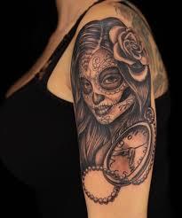 realistic sugar skull tattoo creativefan