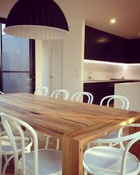 Custom Wood Dining Room Tables by Custom Dining Table With Waterfall Breadboard Ends Made By Bombora