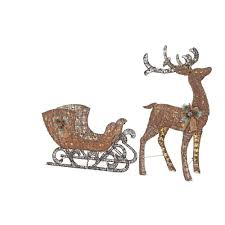 Lighted Santa And Reindeer Outdoor by Outdoor Christmas Decorations Reindeer U2022 Best Christmas Gifts And