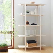 west elm white bookcase scaffold bookshelf west elm dining room pinterest
