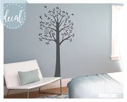 Tree Decals For Walls Nursery by Tree Decal With Bird Cage U0026 Birds Design Wall Decal Vinyl Sticker