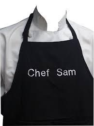 Customizing Kitchen Aprons Amazon Com Chefskin Personalized Adults Apron Lightweight Choose