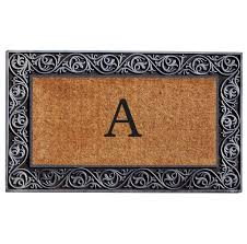 home decoration fabulous monogram doormat with awesome border