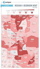 atlanta rent prices mapped november 2016 zumper blog