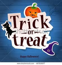 happy halloween greeting card pumpkin cat stock vector 318281876