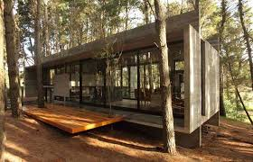 concrete houses design in forest area