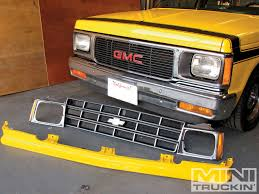toyota truck lexus engine swap chevy s10 grille swap lmc truck gmc mini truckin u0027 magazine