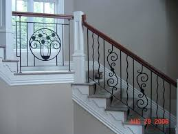 home interior railings wood and metal stair railing impressive picture of interior stair