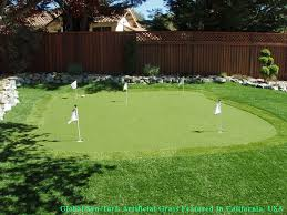 Backyard Putting Green Installation by Artificial Turf Installation Ponte Vedra Beach Florida Home