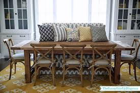 Dining Room Decor Update Bench Chairs Pillows The Sunny Side - Dining room chair pillows