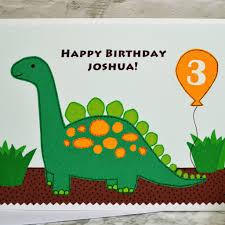 dinosaur u0027 personalised boys birthday card by jenny arnott cards