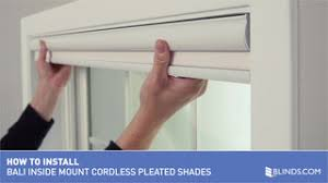 Bali Vertical Blinds Installation How To Install Bali Cordless Pleated Shades Inside Mount U0026raquo