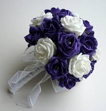 purple bouquets purple and white brides bouquet brides bouquets posie