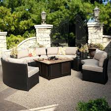 fire pit conversation set living meridian outdoor wicker patio