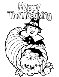 surprising coloring page happy thanksgiving clip art with