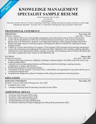 Database Specialist Resume Knowledge Management Specialist Resume Resume Sample Knowledge