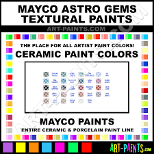 mayco astro gems textural ceramic porcelain paint colors mayco