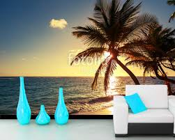 online get cheap beach wallpaper murals aliexpress com alibaba custom beach wallpaper murals palm tree natural landscape mural for living room bedroom sofa background