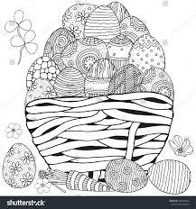 basket easter eggs on white background stock vector 404958016