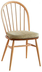 Ercol Dining Chair Ercol 1877 Ash Dining Chair With Seat Cushion In Fabric