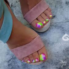 sandal ready toe nail art design idea decorado de unas