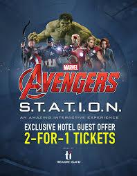 Real Treasure Maps Marvel Avengers S T A T I O N At Treasure Island Las Vegas