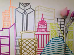 best 25 washi tape mural ideas on pinterest masking tape wall