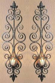 Antique Iron Sconces Sconce Metal Wall Candle Holders Uk Metal Wall Mounted Candle