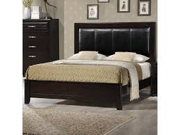 Low Profile Furniture by Crown Mark Jocelyn Queen Low Profile Upholstered Bed Del Sol