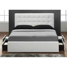White King Size Bed Frame White Leather Headboard King Size Foter
