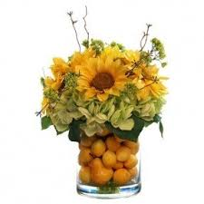 sunflower centerpieces silk sunflower arrangements foter