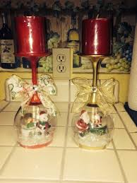 wine glass snow globes wine glass snow globes craft projects for every fan