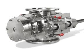 sanitary md series rotary airlock valve with quick clean rotorrail