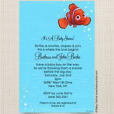 nemo baby shower finding nemo baby shower invitations wally designs