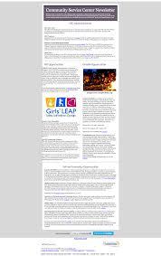 weekly newsletter community service center boston university