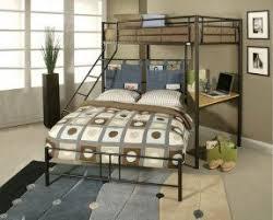 Metal Frame Loft Bed With Desk Metal Bunk Bed With Desk Foter