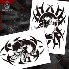 colopaint airbrush templates stencil bps 008 skull airbrushes
