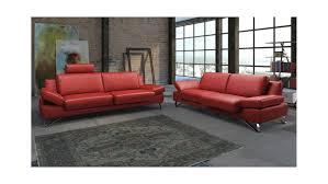 sofa 3 sitzer leder 3 sitzer finest in leder kaminrot mit funktionen